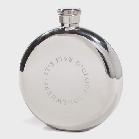 izola hip flask 'five o'clock somewhere'