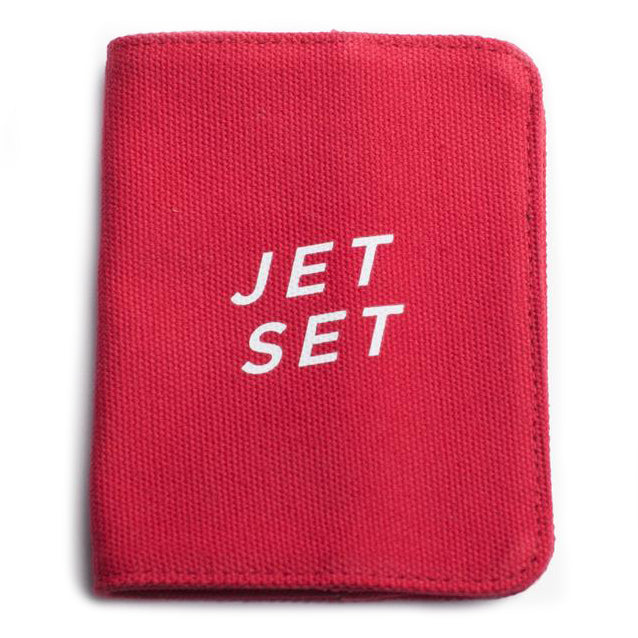 izola passport holder 'jet set' red - the-tangerine-fox