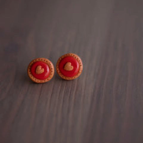 PECULIAR HARVEST 'JAM TART' EARRINGS