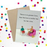 jeffrey & janice greeting card 'mother's wine'