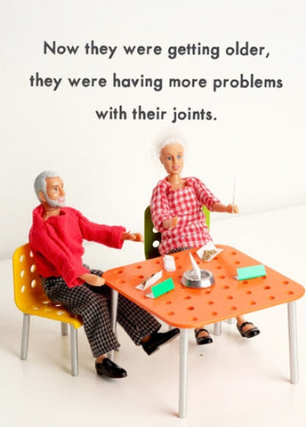 jeffrey & janice greeting card 'joints'