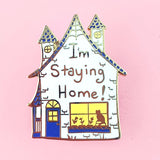 jubly-umph enamel pin 'i'm staying home' - the-tangerine-fox