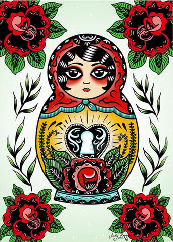 JUBLY-UMPH 'BABUSHKA LOVE' ART PRINT