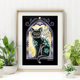 jubly-umph art print 'midnight tomcat' A4