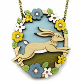layla amber necklace 'jumping hare'