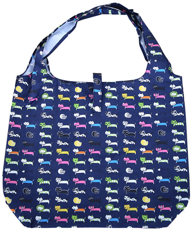 gifted hands shopping bag 'cool cats' navy