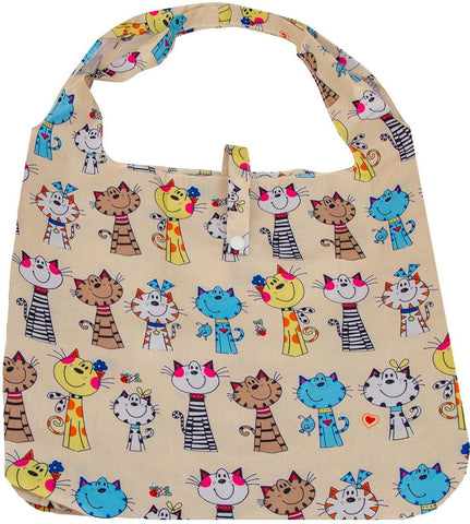 gifted hands shopping bag 'meow' cream