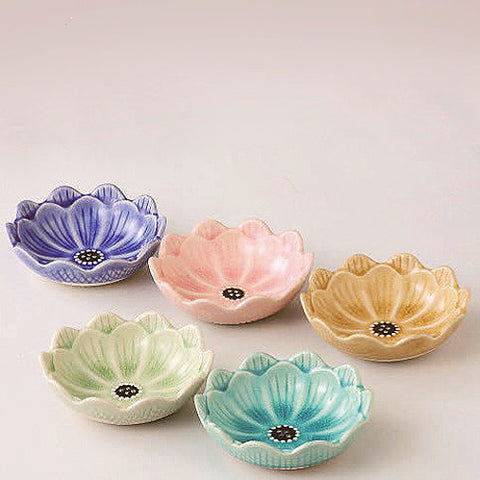 concept japan bowl 'kiku flower' 5 set - the-tangerine-fox