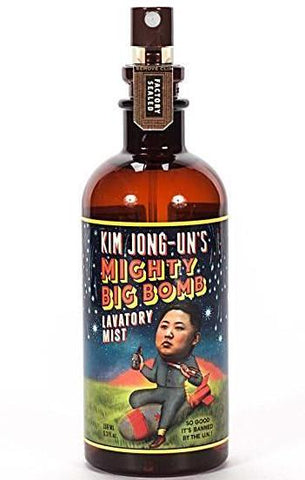 BLUE Q LAVATORY MIST 'KIM JONG-UN'S MIGHTY BIG BOMB'