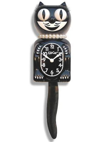 kit-cat lady clock 'classic black'