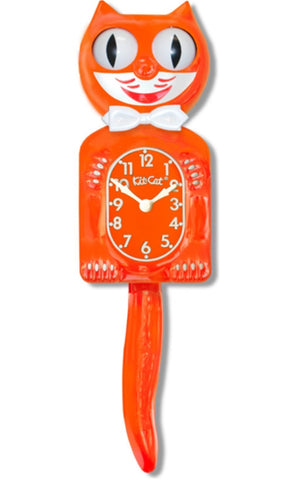 kit-cat clock 'pumpkin delight' - the-tangerine-fox