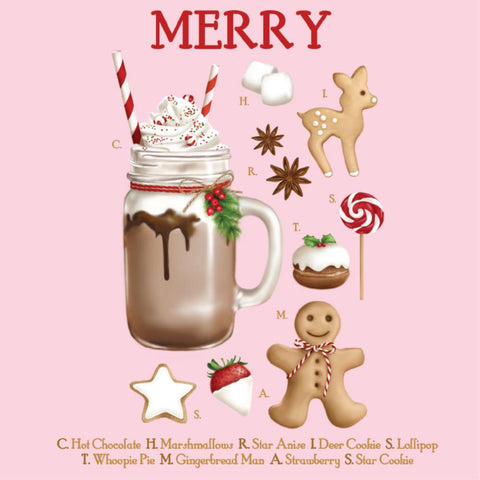 la la land greeting card 'christmas sundae'