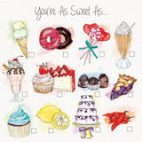 la la land greeting card 'you're as sweet as' - the-tangerine-fox
