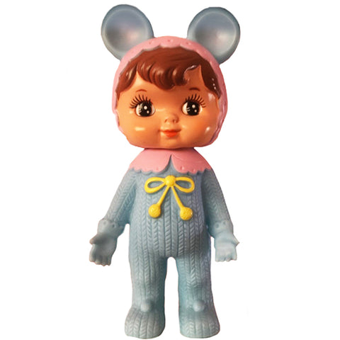 lapin & me 'woodland doll' 2 ear pale blue - the-tangerine-fox