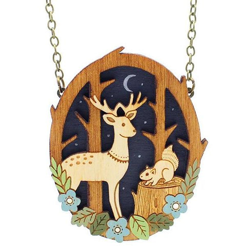 layla amber necklace 'moonlit forest'