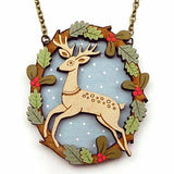 LAYLA AMBER 'LEAPING DEER' NECKLACE