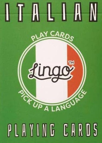 ginger fox playing cards 'lingo italian'