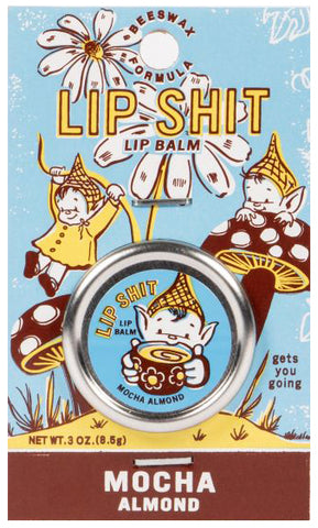 blue q lip balm 'lip shit mocha almond'