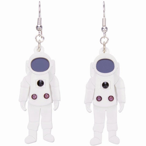 little moose earrings 'astronaut'
