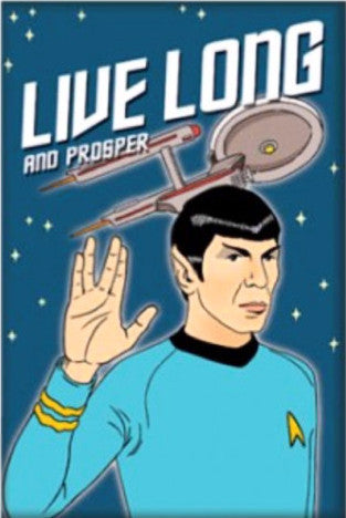 THE FOUND 'LIVE LONG & PROSPER' MAGNET