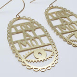 denz & co. earrings 'look at moi dangles' gold