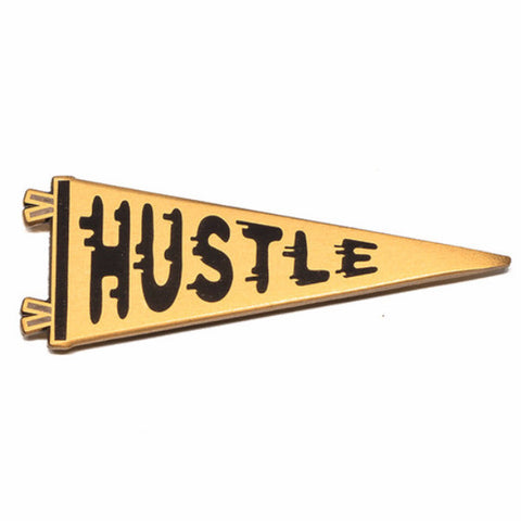 lost lust supply enamel pin 'hustle pennant'