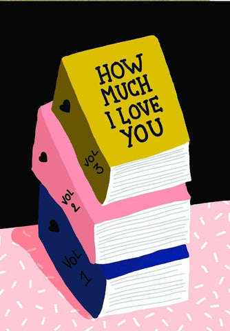 all the ways to say card 'love books'