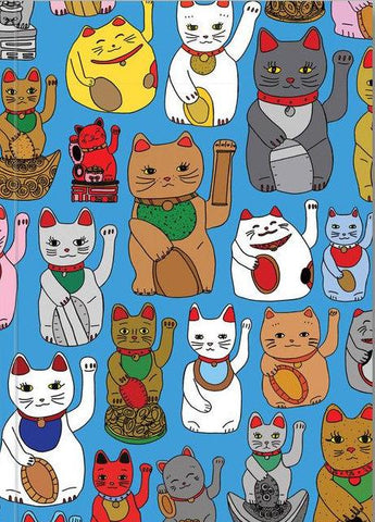 ahd paper co. notebook 'lucky cats'