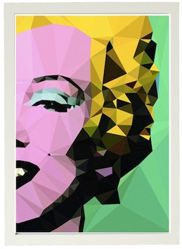 framed print 'marilyn monroe by studio cockatoo' A3 white frame