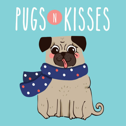 la la land mini card 'pugs & kisses'