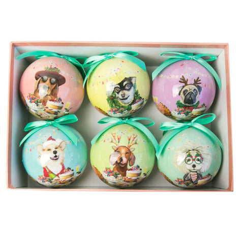 la la land christmas bauble set 'canine'