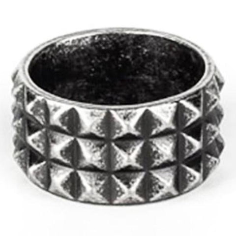 men's ring 'rivet' vintage silver