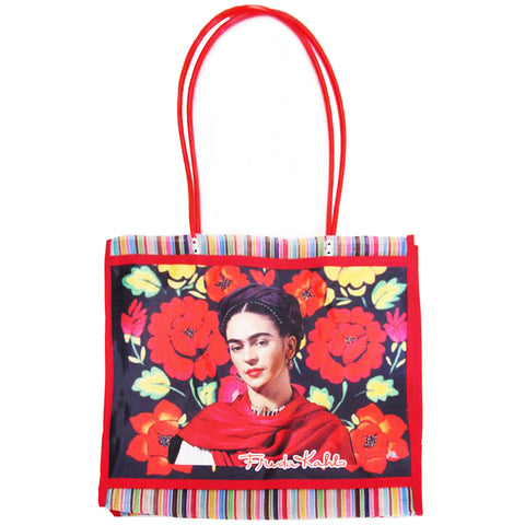 mexican tote bag 'mercado frida teca'