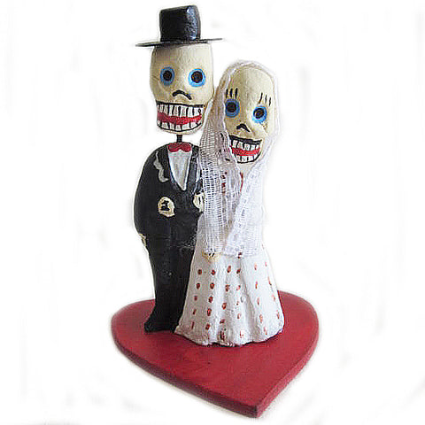 mexican figurine 'day of the dead bride & groom'