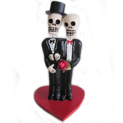 mexican folk art figurine 'two grooms'