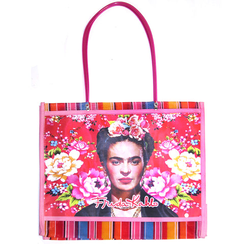 mexican tote bag 'mesh mercado frida'