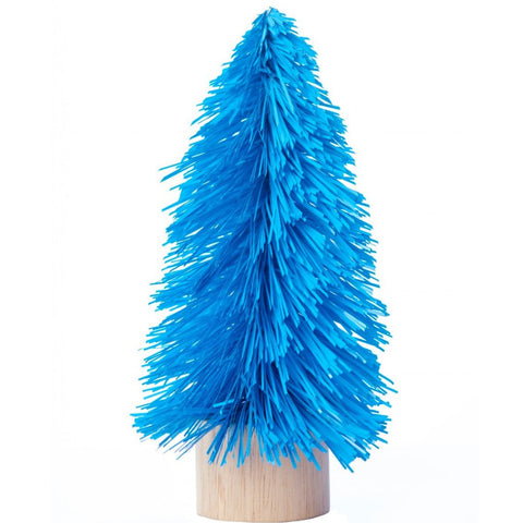 acorn & will mini christmas tree 'kitsch blue' small