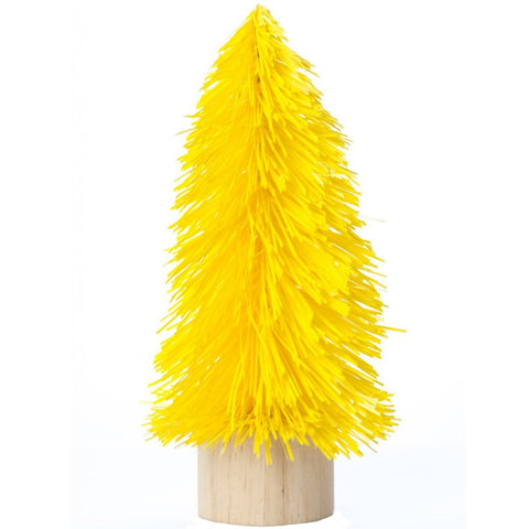 acorn & will mini christmas tree 'kitsch yellow' small
