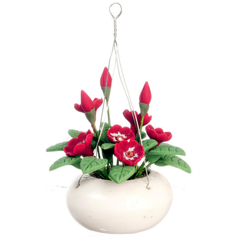 miniature 'hanging plant' red flowers - the-tangerine-fox