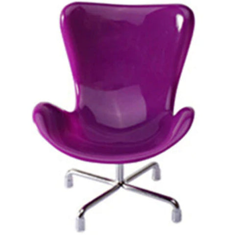 miniature chair 'replica retro' 1:6 scale purple - the-tangerine-fox