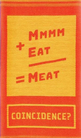 blue q dish towel 'mmmm + eat = meat'