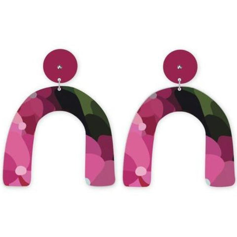 moe moe earrings 'bloom kimmy arch drop studs'