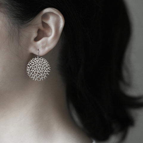 moorigin earrings 'woods' silver small