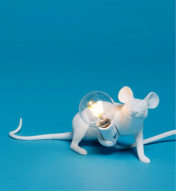 seletti mouse lamp 'lie down' - the-tangerine-fox