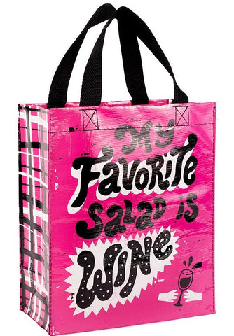 blue q handy tote 'my favourite salad is wine'