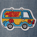 embroidered patch iron-on 'mystery machine'