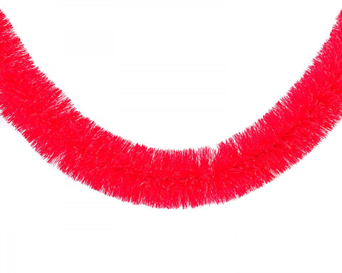 acorn & will christmas garland 'neon red' - the-tangerine-fox