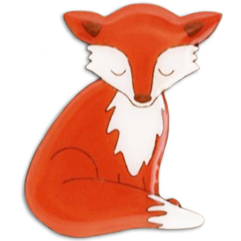 bok bok b'gerk brooch 'fox' - the-tangerine-fox