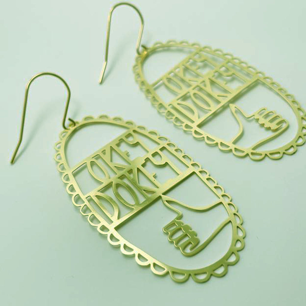 denz & co. earrings 'okey dokey dangles' gold