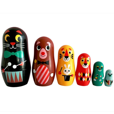 omm design nesting dolls 'carnival' - the-tangerine-fox